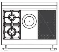 90 US C5 Cooktop Configuration wi...