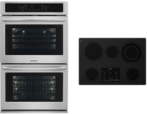 "2 Piece Kitchen Package With G9CE3065XB 30"" Electric Cooktop and FGET3065PF 30"" Electric Double Wall Oven In Black"