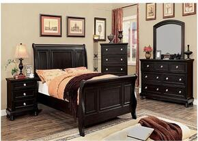 Argusville Collection CM7380CKBDMCN 5-Piece Bedroom Set with California King Bed, Dresser, Mirror, Chest and Nightstand in Espresso Finish
