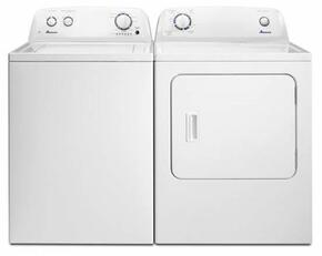 "White Top Load Laundry Pair with NTW4516FW 28"" Washer and NED4655EW 29"" Electric Dryer"