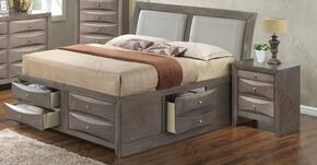 G1505ITSB4N 2 Piece Set including  Twin Size Bed and Nightstand in Gray