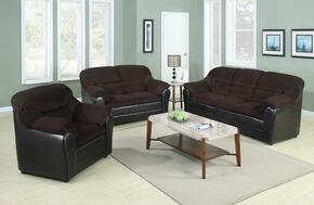 Connell Collection 15975SLCT 6 PC Living Room Set with Sofa + Loveseat + Chair + 3 PK Table Set in Espresso and Chocolate Color