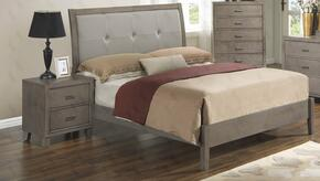 G1205AFBN 2 Piece Set including Full Bed and Nightstand  in Grey