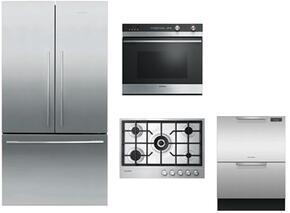 4-Piece Stainless Steel Kitchen Package with RF201ADX5 36