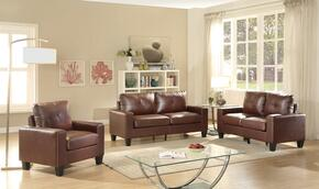 Newbury Collection G467ASET 3 PC Living Room Set with Sofa + Loveseat + Armchair in Brown Color