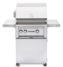 "Sedona 2-Piece Stainless Steel Outdoor Grill Set with L400PSRNG Natural Gas Grill with Independant rear Rotisserie burner and L400CART 24"" Freestanding Cart"