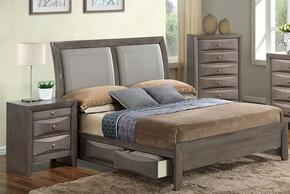 G1505DDFSB2CHN 3 Piece Set including  Full Size Bed, Chest and Nightstand  in Gray