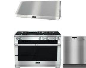 3-Piece Stainless Steel Kitchen Package with HR1955DFGRLP 48