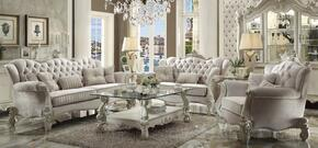 521253PC Versailles 3 PC Living Room Set with Sofa, Loveseat and Chair in Bone White