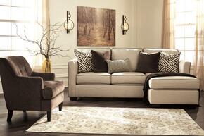 Carlinworth Collection 84401SCAC2 2-Piece Living Room Set with Sofa Chaise and Accent Chair with Solid Pattern