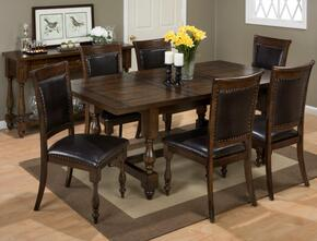 723-78KIT7 Grand Havana Dining Table with 6 Dining Chairs