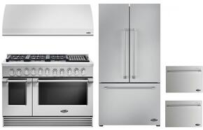 4 Piece Kitchen Package With RGV2486GLN 48