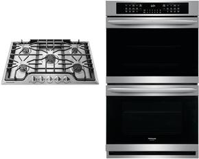 "2 Piece Kitchen Package With FGGC3047QS 30"" Gas Sealed Burner Style Cooktop and FGET3065PF 30"" Electric Double Wall Oven In stainless Steel"
