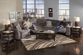 Hammond Collection 1441-8-9-2776-58/2778-58 3-Piece Sectional with Reclining Sofa, Corner Wedge and Reclining Loveseat in Granite and Pillows in Graphite