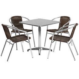Flash Furniture TLHALUM28SQ020CHR4GG