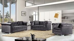 Kayla Collection 739459 3-Piece Living Room Sets with Stationary Sofa, Loveseat and Living Room Chair in Grey