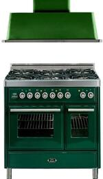 2-Piece Emerald Green Kitchen Package with UMTD1006DMPVS 40