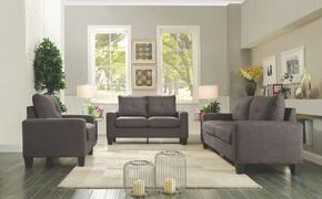 Newbury Collection G472ASET 3 PC Living Room Set with Modular Sofa + Loveseat + Armchair in Grey Color
