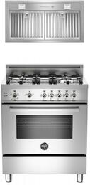 "2-Piece Stainless Steel Kitchen Package With PRO304GASXLP 30"" Professional Series Gas Freestanding Range and Free KIN30PROX Professional Series 30"" Cabinet Insert Hood"