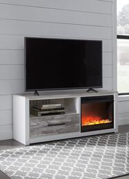 Evanni Collection W315-68F02 2-Piece Set with TV Stand and W100-02 Fireplace Insert in White and Grey