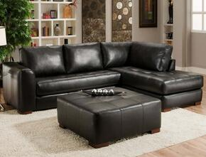 7302756172148099CO Madison Sectional Right Arm Facing Chaise, Left Arm Facing Sofa, Cocktail Ottoman, Bonded Leather and 1.8 Dacron Wrapped Foam Cores in Capri Black