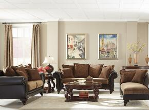 Garroway 5052313PC3 PC Living Room Set with Sofa + Loveseat + Chaise in Dark Chocolate Finish