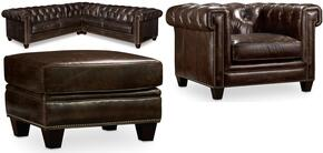 SS195 3-Piece Living Room Set with Imperial Regal Stationary Sectional, Chair and Ottoman in Natchez Brown