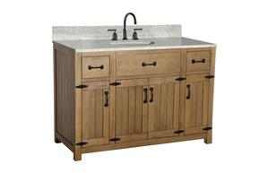 WLF6044-48KIT 48 Weathered Gray Sink Vanity Matching Granite From Wlf6036-49 with Mirror, No Faucet