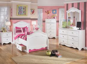 Exquisite Twin Bedroom Set with Sleigh Bed with Underbed Drawers, Dresser, Mirror, 2 Nightstands and Chest in White