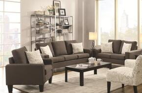 Bachman 504764SLC 3 PC Living Room Set with Sofa + Loveseat + Chair in Grey Color