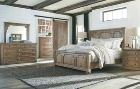 Florence Collection 205170KWSET 5 PC Bedroom Set with California King Bed + Dresser + Mirror + Chest + Nightstand in Rustic Smoke Finish