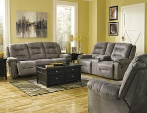 Landin Collection MI-4275SLR-SMOK 3-Piece Living Room Set with Reclining Sofa, Double Reclining Loveseat and Rocker Recliner in Smoke Color