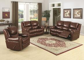 Oxford Collection SU-S1-180-3PCSET 3 Piece Reclining Living Room Set with Sofa + Loveseat + Chair
