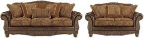 Fresco Collection 63100SL 2-Piece Living Room Set with Sofa and Loveseat in Antique