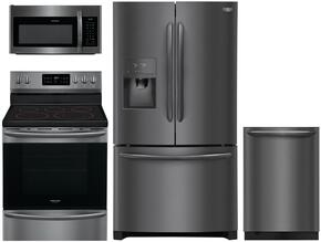4-Piece Black Stainless Steel Kitchen Package with FGHD2368TD 36
