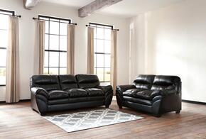 Jaylee Collection MI-6972SL-BLAC 2-Piece Living Room Set with Sofa and Loveseat in Black