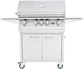 75623KIT L75000 Premium Gourmet Grill with Rotisserie, Smoker Box, Griddle and Temperature Gauge with Matching Cart, Stainless Steel: Natural Gas