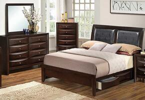 G1525DDQSB2DM 3 Piece Set including  Queen Size Bed, Dresser and Mirror in Cappuccino