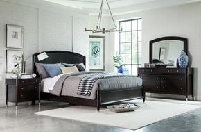 Vibe 4257KPB2NCDM 6-Piece Bedroom Set with King Panel Bed, Two Nightstands, Chest, Dresser and Mirror in Brown Finish