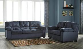 Dailey 95402-36-35 2-Piece Living Room Set with Full Sofa Sleeper and Loveseat in Midnight Blue