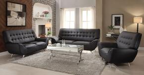 Omniel Collection 52175SLCT 5 PC Living Room Set with Sofa + Loveseat + Chair + Coffee Table + End Table in Black Color