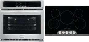 "2-Piece Stainless Steel Kitchen Package with FGEW3065PF 30"" Electric Wall Oven and FGIC3067MB 30"" Induction Cooktop"