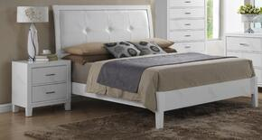 G1275AKBN 2 Piece Set including King Size Bed and Nightstand in White