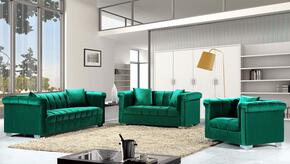Kayla Collection 739465 3-Piece Living Room Sets with Stationary Sofa, Loveseat and Living Room Chair in Green