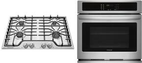"2-Piece Kitchen Package With FFGC3026SS 30"" Gas Cooktop and FFEW3025PS 30"" Electric Single Wall Oven in Stainless Steel"