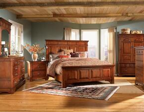 KALRM5130K6P Kalispell 6-Piece Bedroom Set with King Sized Mantel Bed, Chest, Dresser, Mirror and Two Nightstands
