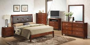 G1200AFBDMNTV 5  Piece Set including  Full Bed, Dresser, Mirror, Nightstand and Media Chest  in Cherry