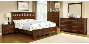 Chelsea Collection CM7781CKBDMCN 5-Piece Bedroom Set with California King Bed, Dresser, Mirror, Chest and Nightstand in Cherry Finish