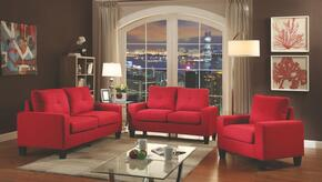 Newbury Collection G474ASET 3 PC Living Room Set with Modular Sofa + Loveseat + Armchair in Red Color