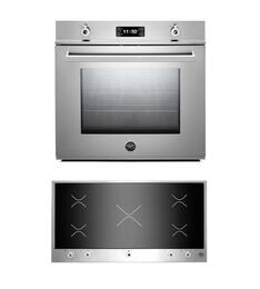 "Professional F30PROXT 30"" Single Electric Wall Oven 2 Piece Stainless Steel Kitchen Package with PM360IGX 36"" Electric Cooktop"
